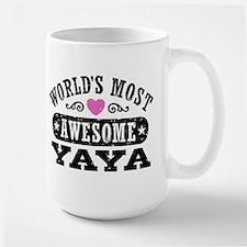 World's Most Awesome Yaya Large Mug