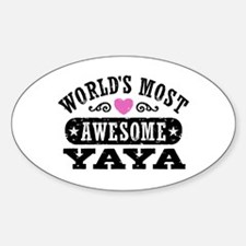 World's Most Awesome Yaya Decal