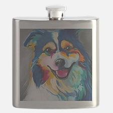 Cute Australian shepherd Flask