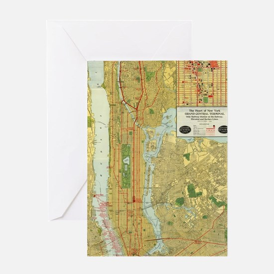 Cute City map Greeting Card