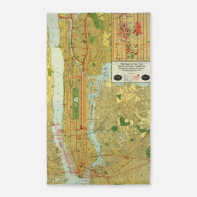 New york city map rugs new york city map area rugs for Area rugs new york