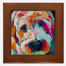 Unique Wheaten terrier Framed Tile