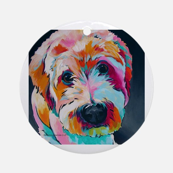 Funny Acrylic Round Ornament