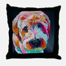 Cute Wheaten terrier Throw Pillow