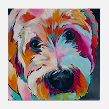 Funny Acrylic painting Tile Coaster
