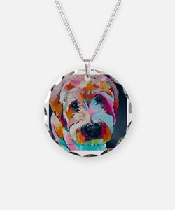 Cute Wheaten terrier art Necklace