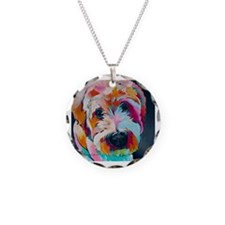 Cute Colors Necklace Circle Charm