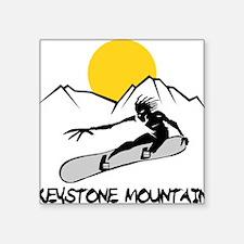 """Cute Colorado snowboarding Square Sticker 3"""" x 3"""""""