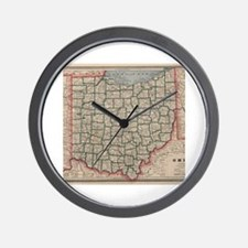 Unique I heart ohio Wall Clock