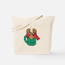 Cute Moose in a Mug Tote Bag
