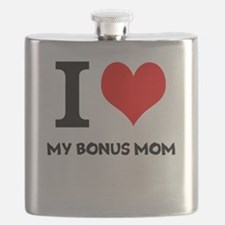 I Love My Bonus Mom Flask