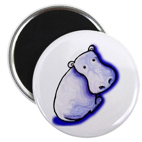 "KiniArt HIPPO 2.25"" Magnet (10 pack)"
