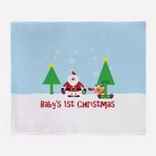 Baby's first Christmas 2015 dated Throw Blanket