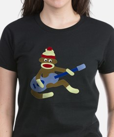 Sock Monkey Blue Guitar Tee