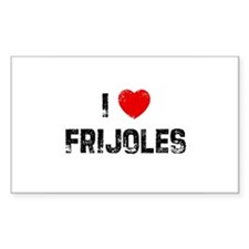 I * Frijoles Rectangle Decal