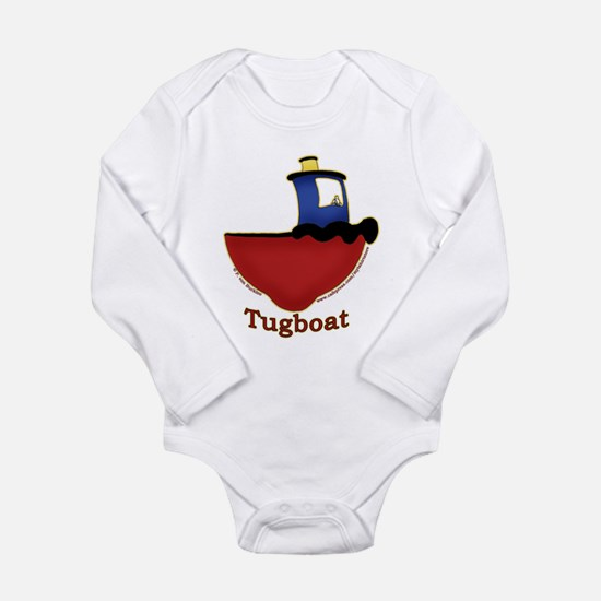 Cute Tug boats Long Sleeve Infant Bodysuit