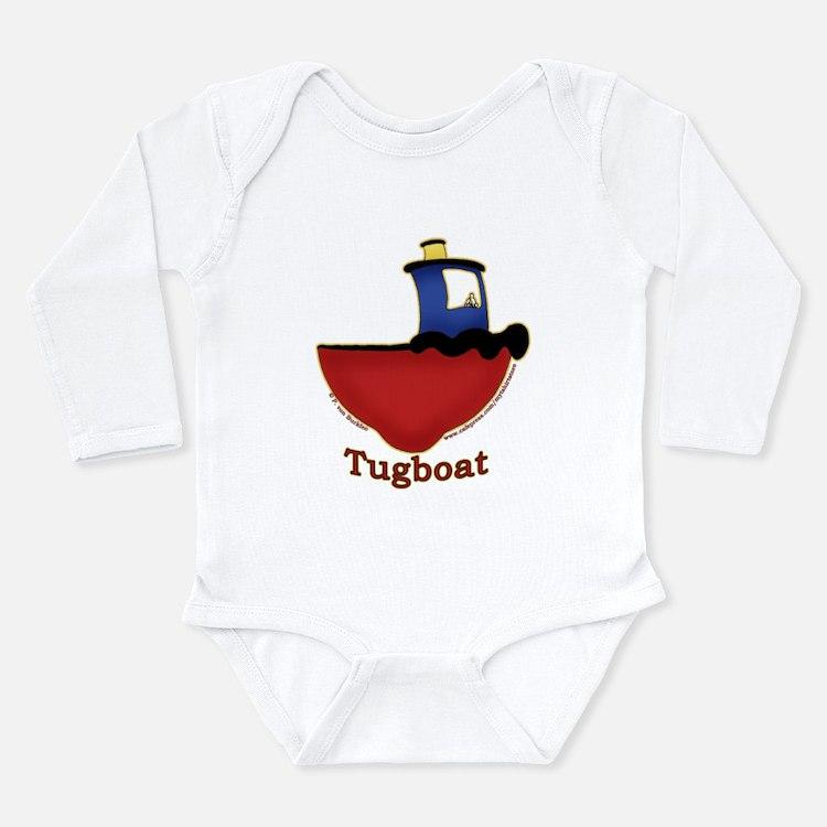 Cute Tug Long Sleeve Infant Bodysuit