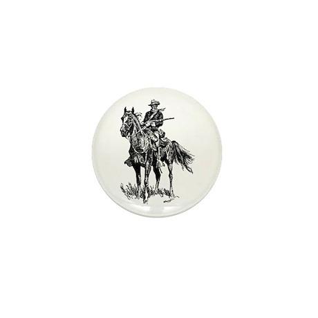 Old Bill Cavalry Mascot Mini Button