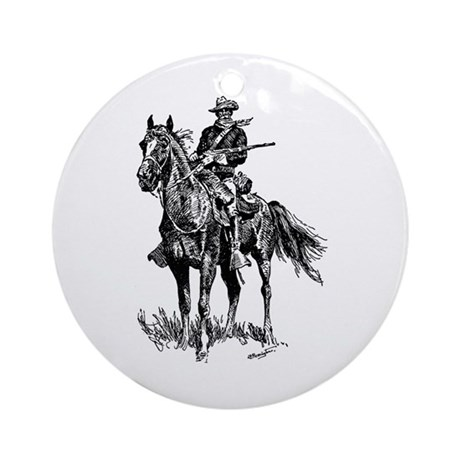 Old Bill Cavalry Mascot Ornament (Round)