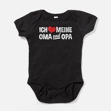 Ich Liebe Meine Oma Und Opa Baby Bodysuit