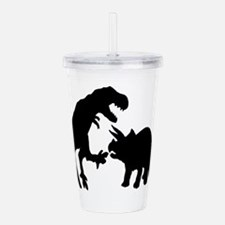 Tyrannosaur and Tricer Acrylic Double-wall Tumbler