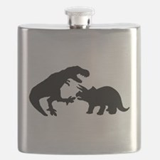 Tyrannosaur and Triceratops b Flask