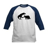 Triceratops and tyrannosaurus Baseball Jersey