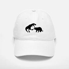 Tyrannosaur and Triceratops b Baseball Baseball Cap