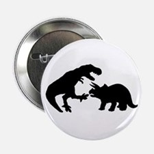 "Tyrannosaur and Triceratops b 2.25"" Button"