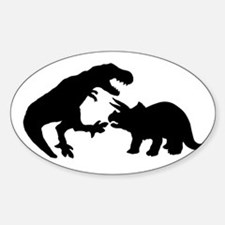 Tyrannosaur and Triceratops b Decal