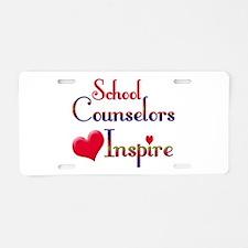 School Counselor Aluminum License Plate