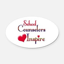 School Counselor Oval Car Magnet