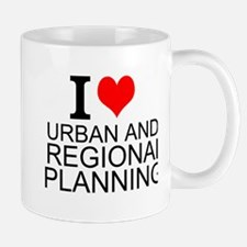 I Love Urban and Regional Planning Mugs