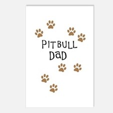 Pitbull Dad Postcards (Package of 8)
