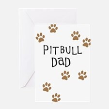 Pitbull Dad Greeting Card