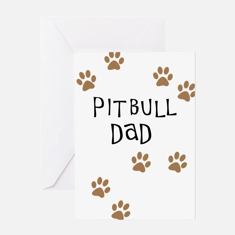 Pitbull Dad Greeting Card