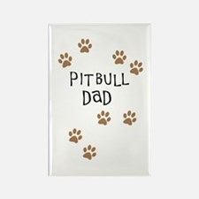 Pitbull Dad Rectangle Magnet
