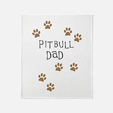Pitbull Dad Throw Blanket