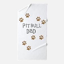 Pitbull Dad Beach Towel