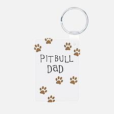 Pitbull Dad Keychains