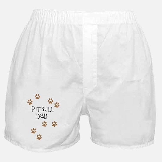 Pitbull Dad Boxer Shorts