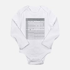 Funny Grammar Long Sleeve Infant Bodysuit