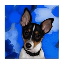 Rat Terrier Dog Tile Coaster