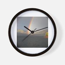 Unique Rainbow mountain Wall Clock