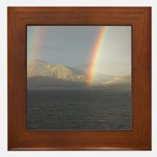 Funny Rainbow mountain Framed Tile
