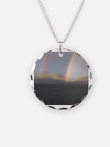 Unique Rainbow mountain Necklace