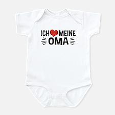 Ich Liebe Meine Oma Und Opa Infant Bodysuit