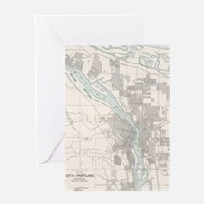 Cute Map oregon Greeting Card