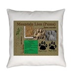 Mountain Lion Puma Tracks Everyday Pillow
