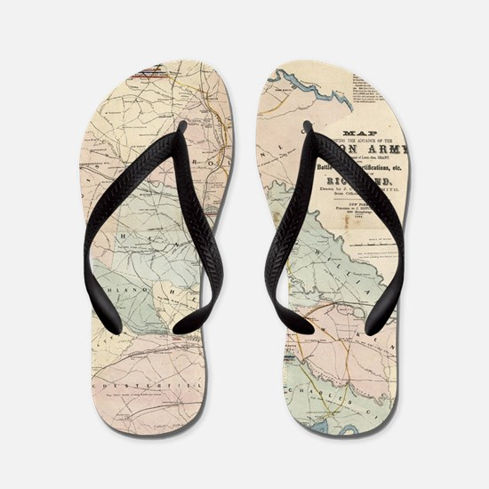 Unique War Flip Flops